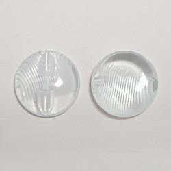 Nasturi cu picior, 22 mm - Transparent cu striatii