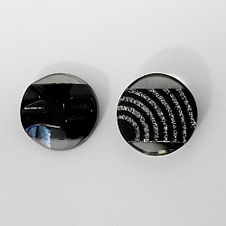 Nasturi cu picior, 23 mm - Negru cu dungi argintii