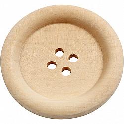 Nasturi din lemn, patru gauri - 35mm, 1 Buc.