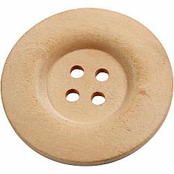 Nasturi din lemn, patru gauri - 40mm, 1 Buc.