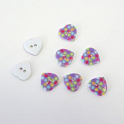 Nasturi inimoare colorate, cu doua gauri - 15 mm