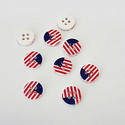 Nasturi patru gauri, 11 mm - Steagul Americii
