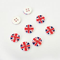Nasturi patru gauri, 11 mm - Steagul Angliei