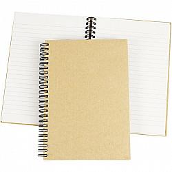 Notebook cu spirala, coperta MDF, A5 15x21 cm, 1 Buc.