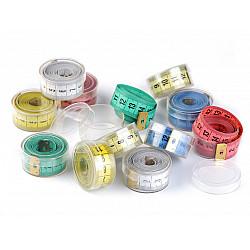 Centimetru croitorie in cutie rotunda,150 cm - aleator