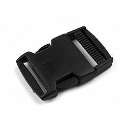 Cataramă trident, lățime 30 mm (pachet 5 perechi) - negru