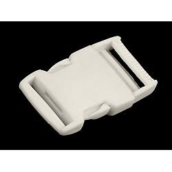 Cataramă trident, lățime 30 mm (pachet 5 perechi) - alb
