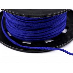 Snur imitatie piele / faux suede, 3mm (rola 30 m) - albastru regal