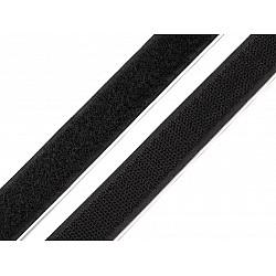 Bandă arici autoadezivă, complet (puf + scai), 20 mm, (rola 25 m) - negru