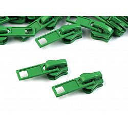 Cursor fermoar injectat, 5 mm (pachet 10 buc.) - Verde