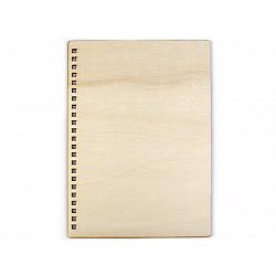 Coperți din lemn pentru agende A5 (set 2 buc.) - lemn natur