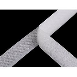 Bandă arici, complet (puf + scai), 20 mm (rola 25 m) - alb