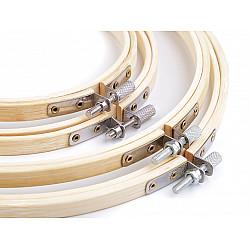 Set gherghefuri / rame din bambus pentru brodat, 12; 15; 20,3; 22,5 cm