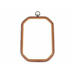 Gherghef / Ramă dreptunghiular 15,5 x 22,6 cm, pentru broderie  - maro deschis