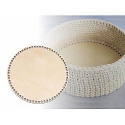 Fund din lemn pentru coșuri tricotate, Ø20 cm - natur deschis