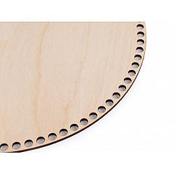 Fund din lemn pentru coșuri tricotate, Ø29 cm