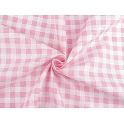 Bumbac imprimat carouri, la metru - roz deschis