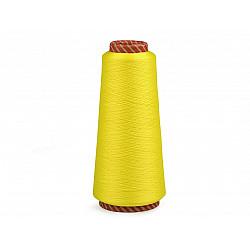 Ață elastică pentru overlock, 5000 m - galben