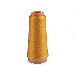 Ață elastică pentru overlock, 5000 m - galben muștar