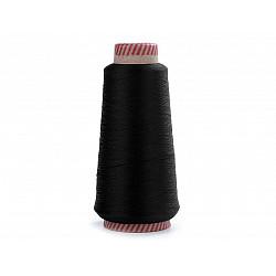 Ață elastică pentru overlock, 5000 m - negru