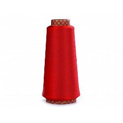 Ață elastică pentru overlock, 5000 m - roșu