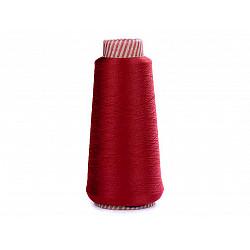 Ață elastică pentru overlock, 5000 m - roșu închis