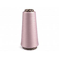 Ață elastică pentru overlock, 5000 m - roz pudrat