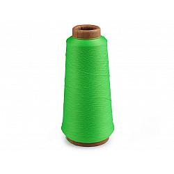 Ață elastică pentru overlock, 5000 m - verde lime