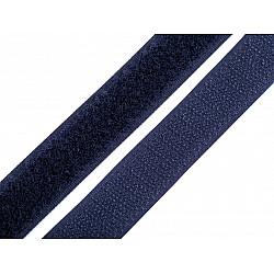 Bandă arici, complet (puf + scai), 20 mm (rola 25 m) - albastru parizian
