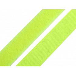Bandă arici, complet (puf + scai), 20 mm (rola 25 m) - galben verzui strident