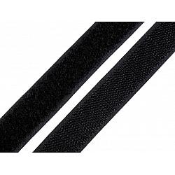 Bandă arici, complet (puf + scai), 20 mm (rola 25 m) - negru