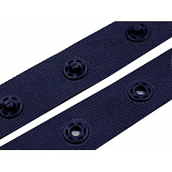Banda cu capse la metru, 18 mm - Albastru închis