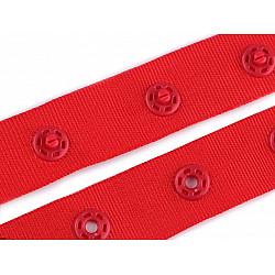 Banda cu capse la metru, 18 mm - Roșu