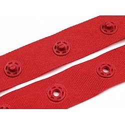 Banda cu capse la metru, 18 mm - Roșu deschis