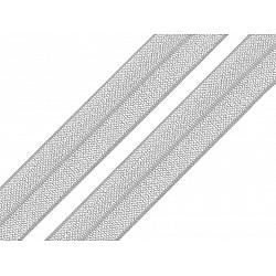 Bias elastic, lățime 16 mm (pachet 5 m) - gri