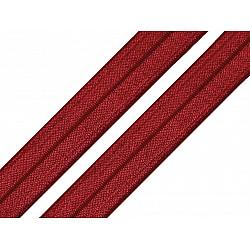 Bias elastic, lățime 16 mm (pachet 5 m) - roșu închis
