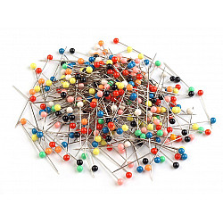 Bolduri cu cap din plastic, lungime 30 mm (~1000 buc.) - diverse culori