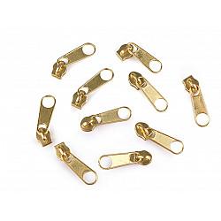 Cursor fermoar spiralat, 3 mm (pachet 10 buc.) - Auriu