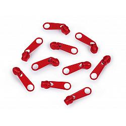 Cursor fermoar spiralat, 3 mm (pachet 10 buc.) - Roșu intens