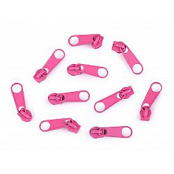 Cursor fermoar spiralat, 3 mm (pachet 10 buc.) - Roz