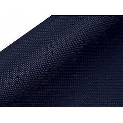Etamină pentru brodat Kanava, lățime 50 cm (rola 5 m) - albastru închis