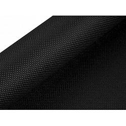 Etamină pentru brodat Kanava, lățime 50 cm (rola 5 m) - negru