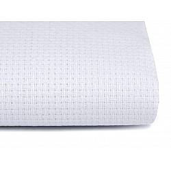 Etamină pentru brodat la metru 170 g/m²- alb