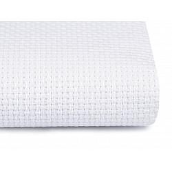 Etamină pentru brodat la metru 206 g/m²- alb