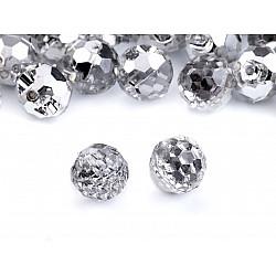 Nasturi Crystal, Ø10 mm (pachet 20 buc.) - Argintiu