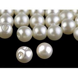 Nasturi / perle de cusut, Ø8 mm (pachet 20 buc.) - crem sidefat