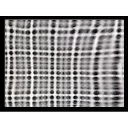 Plasă din plastic pentru brodat, 41 x 59 cm - alb