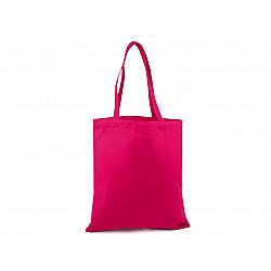 Sacoșă din pânză de bumbac decorabilă, 35x39 cm - roz