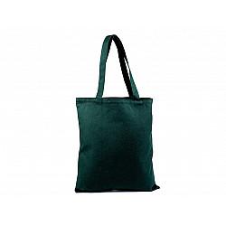 Sacoșă din pânză de bumbac decorabilă, 35x39 cm - verde pădurar