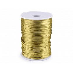 Șnur satinat, Ø2 mm (rola 95 m) - auriu închis
